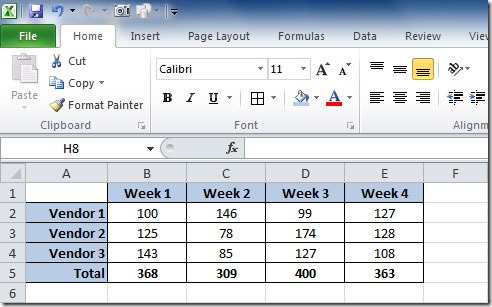 how to add total line in excel chart